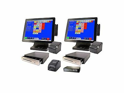 NEW 2 Touch Screen POS System with Restaurant Software