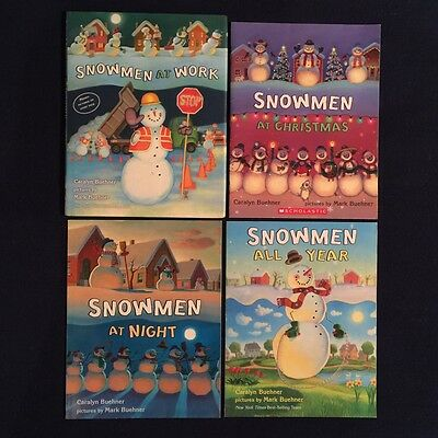 Lot of 4 Children's Picture Books Caralyn Buehner: Snowmen at Christmas & More
