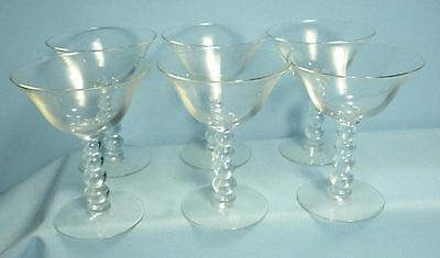 VTG Crystal Stemware . Candlewick Sherbet or Champagne Glass . Set of 6