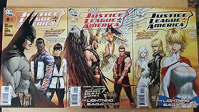 Justice League of America (2007)  #8 #9 #10 Michael Turner Connecting