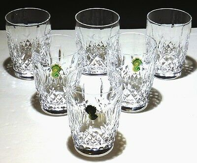 6 Rare Vintage Waterford Crystal Kilcash 10 Ounce Tumbler Glasses ~ 4 1/4""