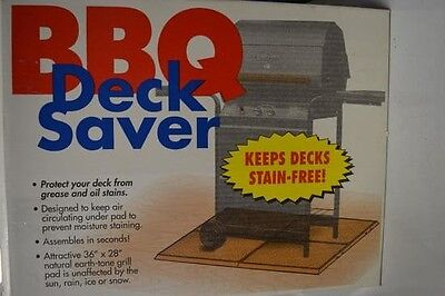 BBQ Deck Saver, put under your grill to stop grease and food on the deck.