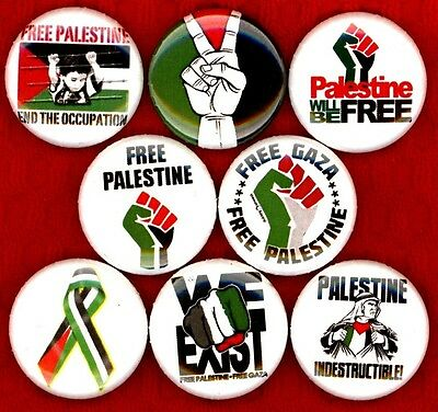 Free Palestine x 8 NEW pins button badge peace end the occupation gaza we exist