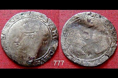 Ireland Philip & Mary hammered silver groat
