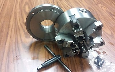 "6"" 6-JAW SELF-CENTERING  LATHE CHUCK w. top&bottom jaws w. 2-1/4""-8 adaptor-new"