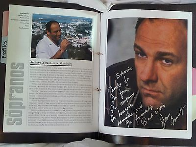 """The Sopranos Fully Autographed """"a Family History""""  Hardback Book"""