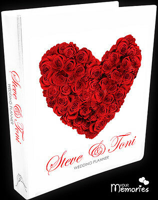 Wedding Planner/Red Rose Heart Gift Personal /Diary/Organiser/Engagement Present
