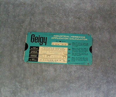 Geigy Industrial Herbicide Application Calculator 1964 Perrygraf Slider Slide