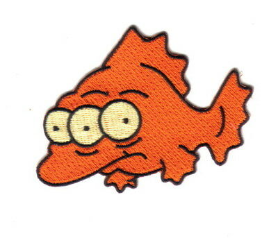 The Simpsons Blinky, The Three Eyed Mutant Fish Embroidered Patch, NEW UNUSED
