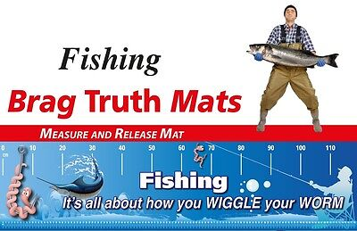 Fishing Measure And Release Mat Funny Worm Wiggle Marlin Picture Fish Brag Mat