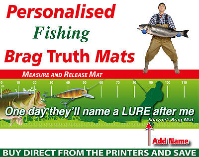 Personalised Fishing Measure And Release Mat Funny Name A Lure Fish Brag Mat