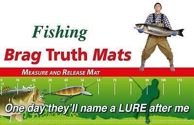 Fishing Measure And Release Mat Funny Name A Lure Fish Brag Mat