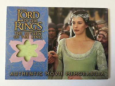 ROTK Lord Of The Rings Arwen's Coronation Dress Costume Memorabilia Card LOTR