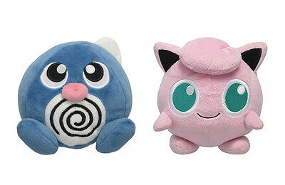 Set of 2 Sanei Pokemon All Star Collection PP05 Poliwag & PP02 Jigglypuff Plush