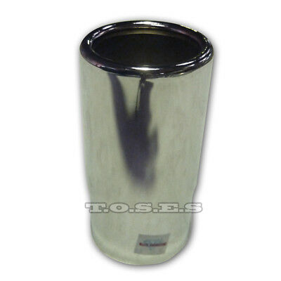 "2.5"" Inlet 2.75"" Outlet Rolled End Straight Cut Chrome Exhaust Tip"
