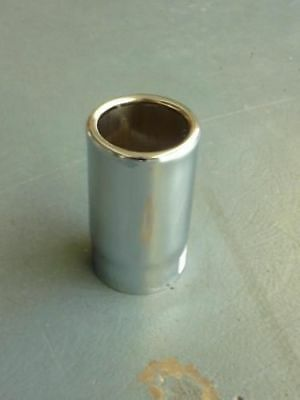 """Chrome Exhaust Tip 2.5"""" Inlet 4"""" Outlet Rolled End"""