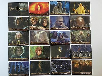 Topps Lord Of The Rings LOTR The Two Towers AUSTRALIAN Cadbury's Set C1 - C20