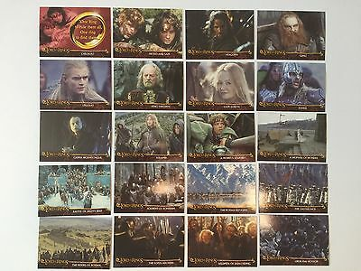 Topps Lord Of The Rings LOTR The Two Towers U.K. Cadbury's Preview Set C1 - C20