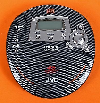 JVC CD/FM/AM Digital Tuner Portable CD Player Model XL-PR1BK