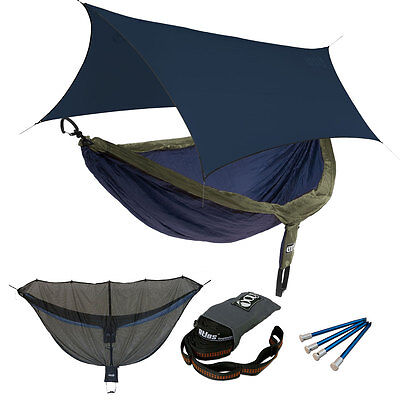 EAGLES NEST OUTFITTERS ENO OneLink DoubleNest Hammock Sleep System NAVY/OLIVE
