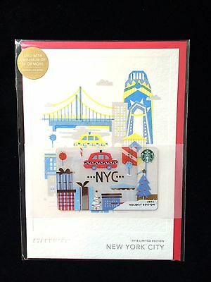 Starbucks 2016 New York City NYC Christmas Holiday Gift Card Limited Edition
