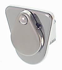 VW Split Bus deluxe chrome gas or fuel door lock assembly  March 1955 - 1966 new