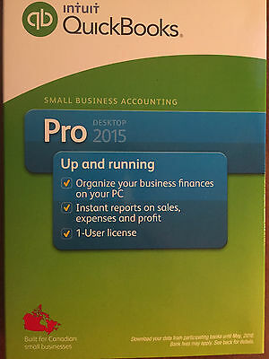 Quickbooks Pro 2015 Canadian Version & Canadian Seller