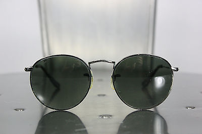 Ray Ban round sunglasses vintage B&L metal frame glass lens made in usa unisex