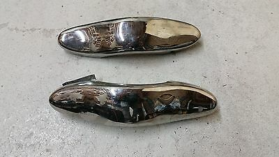 Vintage 1930s Chrome Bumper Guard Pair