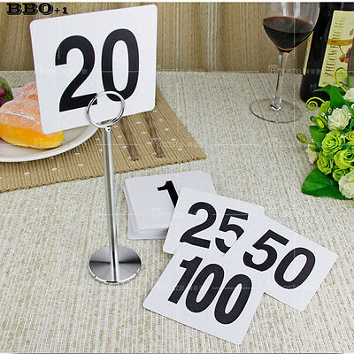1-50 Double Side Plastic Table Number cards Wedding Digital Card seating cards