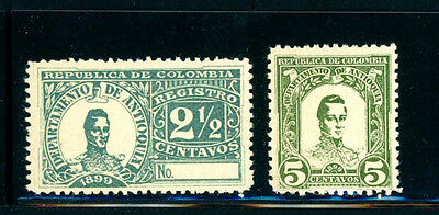 Columbia BOB 2 stamps MH -- Awesome Stamps - Great Value