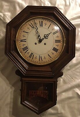 TREND Sligh Chime Wall Regulator Beautiful Clock with Pendulum Sold As Is