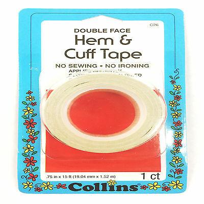 "Collins Hem & Cuff Tape 3/4"" X 15 ft. Double Face Tape C26"