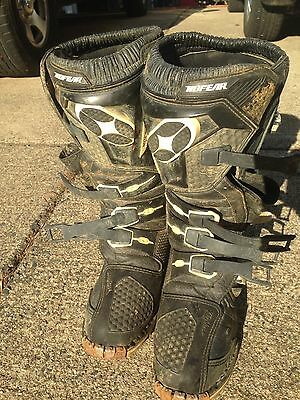 NO FEAR Racing Motocross Boots size 9 used
