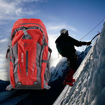 Mountaineering 40L Water Nylon Shoulder Bag Unisex Travel Hiking Backpack LO