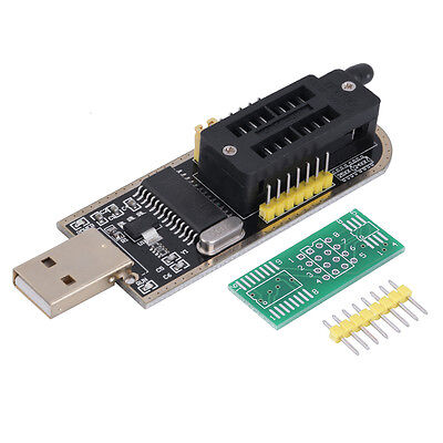 25 SPI Series 24 EEPROM CH341A BIOS Writer Routing LCD Flash USB Programmer LO