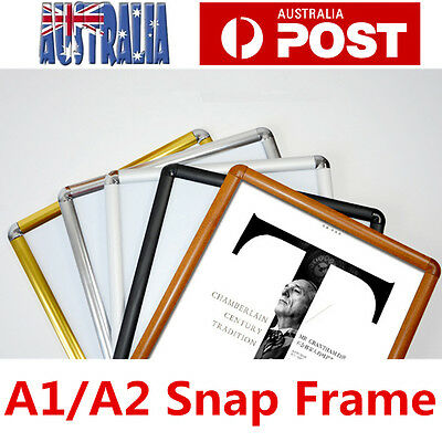 A1 A2 PREMIUM Aluminum Snap poster frame Sign holder wall mount Black
