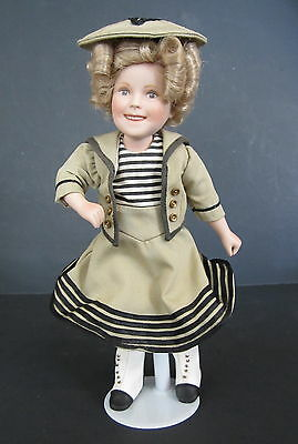 "Danbury Mint MOVIE CLASSICS Shirley Temple WEE WILLIE WINKIE 10"" Doll"