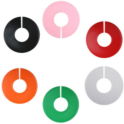 5 NEW Clothing Blank Size Rack Ring Closet Divider Organizer, 6 Colors