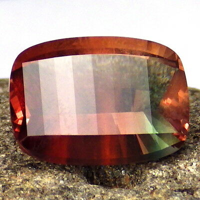 ORANGE RED to GREEN BiCOLOR SCHILLER OREGON SUNSTONE 5.40Ct FLAWLESS-INVESTMENT!