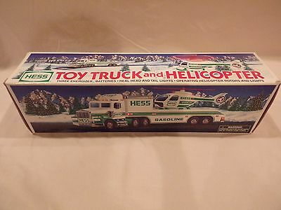1995 Hess Toy Truck and Helicopter NIB