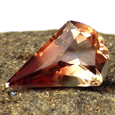 PINK GREEN OREGON SUNSTONE 4.09Ct FLAWLESS-FOR RARE JEWELRY-GERMAN CUT-VIDEO
