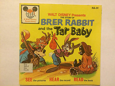 Walt Disney Read-Along Brer Rabbit and the Tar Baby RA-31 book only
