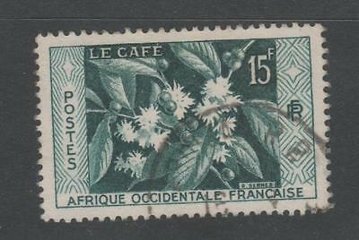 1956 FRENCH WEST AFRICA ( French Colony ) - 15c COFFEE issue stamp Used #