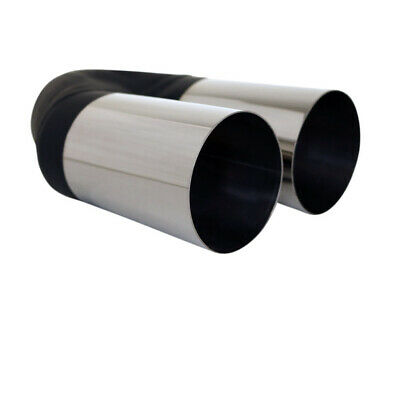 """2.5"""" Inlet / Twin 3"""" Outlet Straight Cut Redback Stainless Exhaust Tip"""