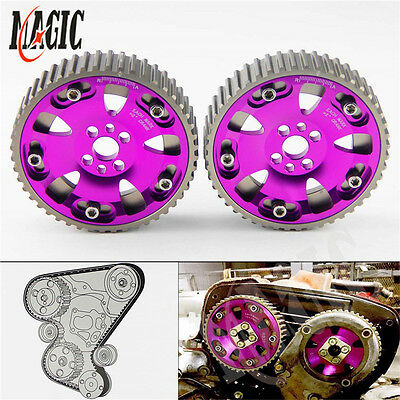 CAM GEARS PULLEY KIT for NISSAN SKYLINE RB20 RB25 RB26 R32 R33 R34 Purple 2pcs