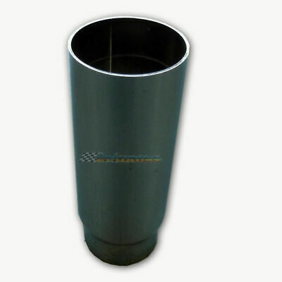 """2.25"""" Inlet 3.5"""" Outlet Straight Cut 8"""" Long Chrome Exhaust Tip"""