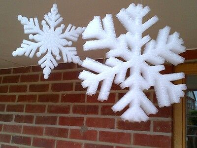 Snowflakes Large White Frozen Christmas Snow Ice  Decoration Hanging or Window