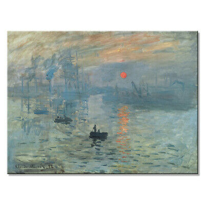 Canvas Print Abstract Monet Painting Repro Pictures Home Decor Wall Art Framed