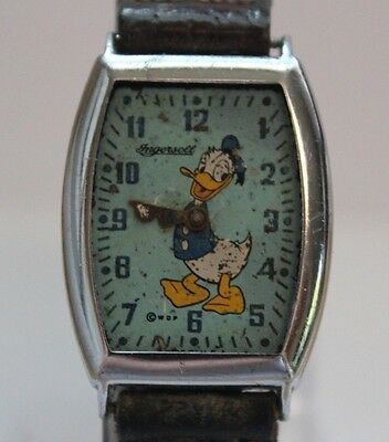 Vintage Rare 1940's US Time Ingersoll Donald Duck Mechanic Watch BUYNOW LOT#1011